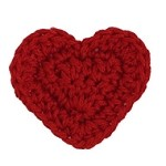 Heart Crochet Applique Patch by PC, DES-CHS23-S